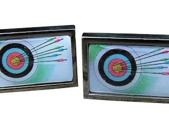 Archery Target Cufflinks from an original image