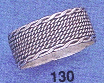 Sterling ,Silver,925, Bali, Band Ring,Ring Size US # 6 -11