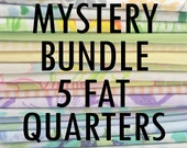 Vintage Sheet Fat Quarter Bundle - Mystery Bundle - 5 Pieces