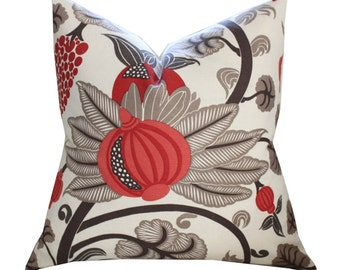 "20"" Sq Osborne and Little Maharani Pillow Cover in Stone"