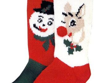 Custom Snowman or Reindeer Stocking