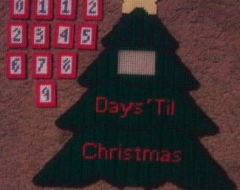 Christmas Countdown Plastic Canvas Pattern