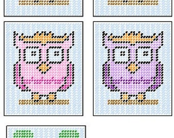 Owl Tissue Box Cover Plastic Canvas Pattern