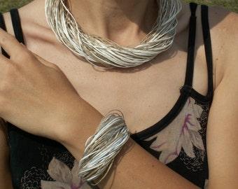 Linen  Bracelet WEDDING NATURAL Linen