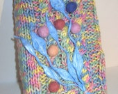 Tutti Frutti Felt Ball Knitted Book Cover - Delacroux