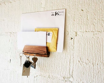 An Oak Key Holder and Mail Holder Handmade