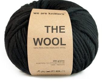 100% Peruvian wool - Black