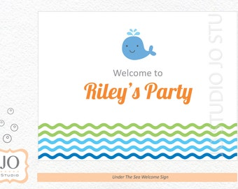 Under The Sea Themed Welcome Sign / Under The Sea Party