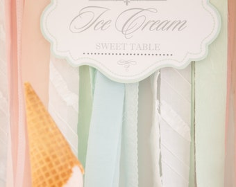 Mix and Match Collection for an Ice Cream Social / Ice Cream Party / Choose any 4 of the 10 items