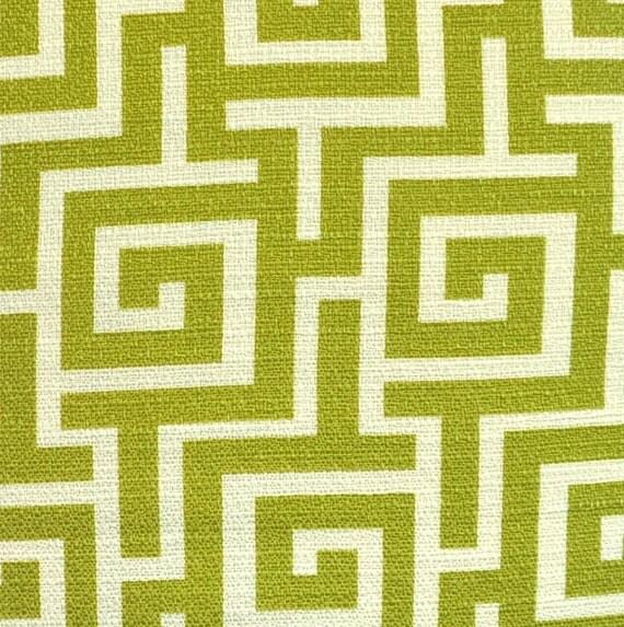 Home Decor Fabric Designer Fabric Green Trellis Green