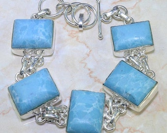 SALE HOWLITE Genuine Gemstone BRACELET Artisan Handcrafted Jewelry One of a Kind Fabulous