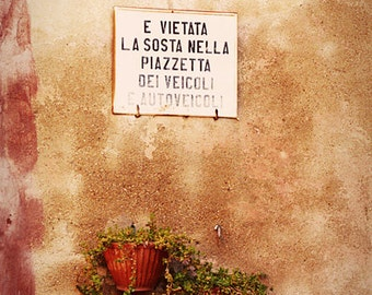 SIGN photography print, Italian street art, 8x12