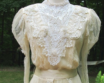 SALEl - SALE -Very Traditional Ornate Victorian Wedding Gown