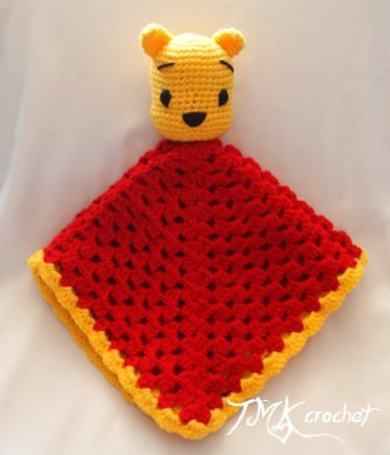 Items similar to Winnie the Pooh Inspired Crochet Lovey ...