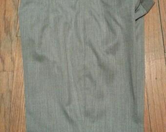 "Bespoke Men's European Style Slim Cut Pocket-less Pants 31"" Waist Gray"
