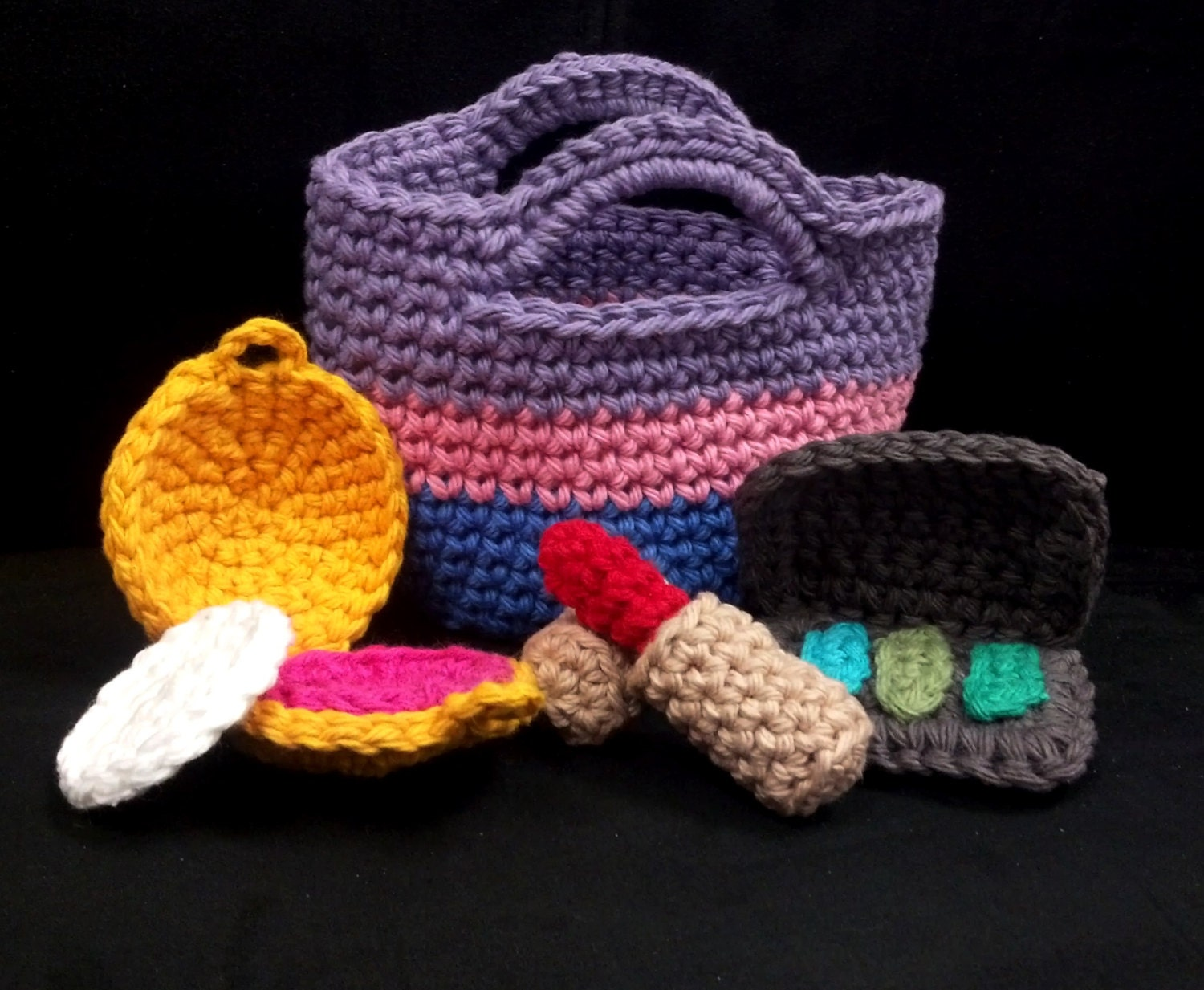 Amigurumi Crochet Pattern Quick and Easy Make-up and Bag