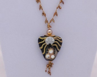 Mother Earth Lamp Glass Bead Necklace Price Reduced