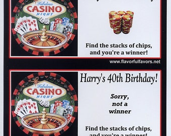 Casino Night party favors scratch off tickets-set of 10