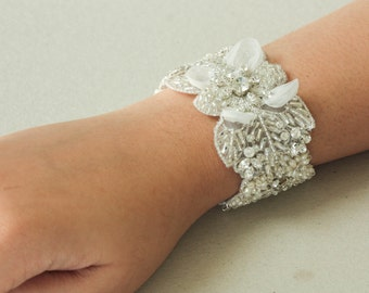 Wedding Statement Bracelet ISLA-2  ( Made to order)
