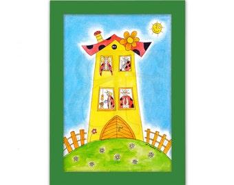Cute Painting Nursery Decor Baby Boy Wall Decor For Boy Room Little Boy  Painting Print Gift