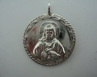 Jesus Medallion With Mary on Back (JC-658)