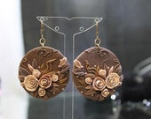 Brown Earrings made of Polymer Clay Fimo Jewelry Bangles by DASH Art Studio