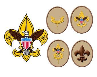 Boy Scout emblems edible cake image frosting sheet cake topper
