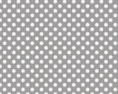 Gray Small Dots Fat Quarter Riley Blake Polka Dots Cotton Fabric