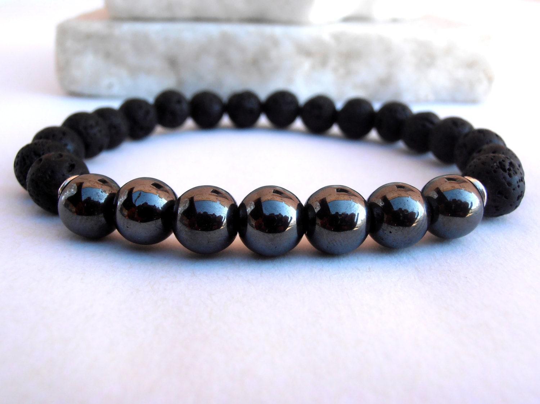 mens mala bracelet lava bracelet lava bracelet healing mala