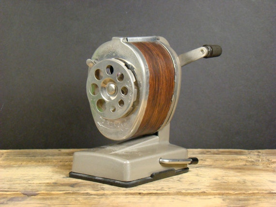 Vintage Boston Pencil Sharpener with suction base