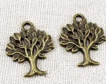 20 pcs  Antique bronze  Tree of Life Charm Pendants  life tree  20x16mm