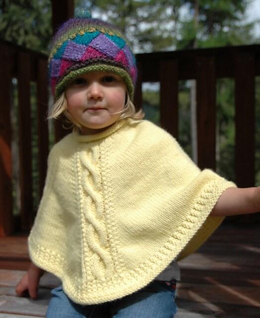 Knitting Pattern: Sweet Tart poncho PDF