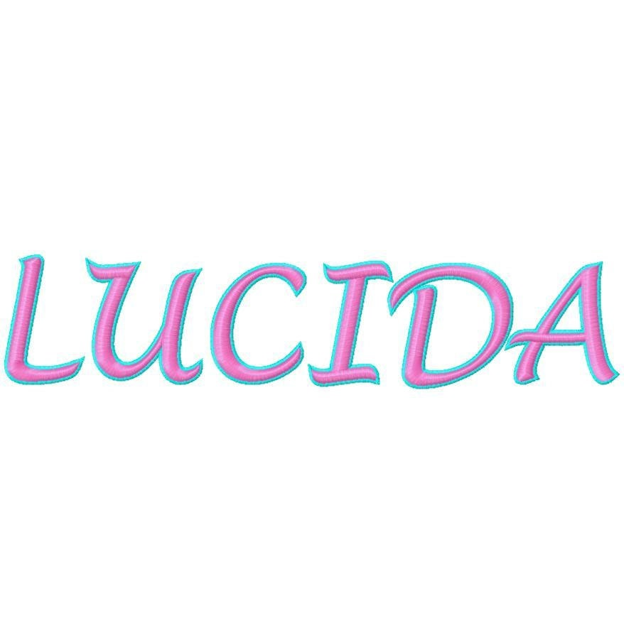 2 Color Lucida Machine Embroidery Fonts 17