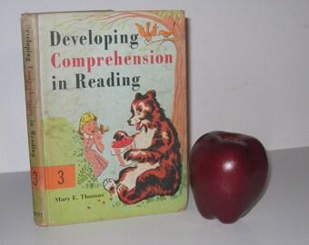 Developing Comprehension in Reading 3, 1969 Reader by Mary E. Thomas, Retro Mid Century School Book, Home Schoolers, Vintage School