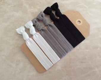 Set of 6 Elastic Hair Ties