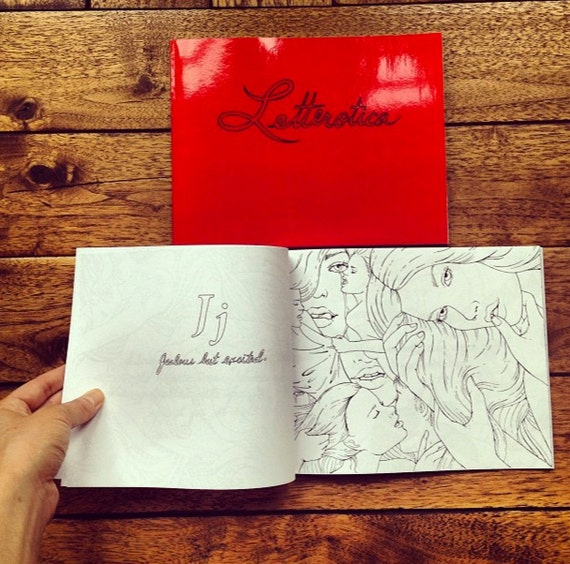 Letterotica: Erotic Coloring Book