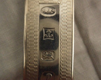 Vintage Solid Silver Hallmarked Money Clip