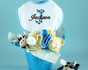 Pots of Luck Personalized Baby Gift Basket