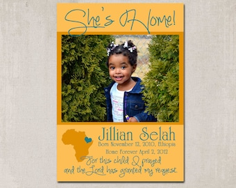 She's Home! Adoption Announcement - Printable