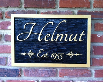 Custom Carved Last Name Sign / Family Name Plate with established year