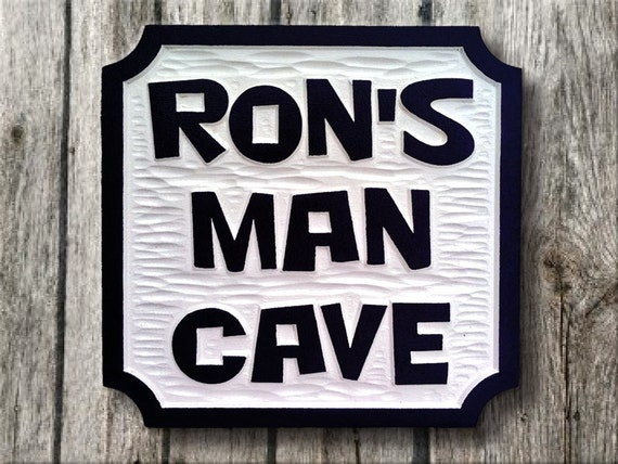 Personalized Man Cave Signs Etsy : Items similar to man cave sign carved personalized