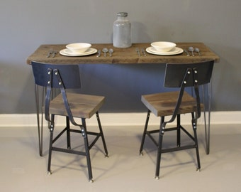 Farmhouse Wood Dining Table with Hairpin Legs,  Reclaimed Wood Furniture, Kitchen Table