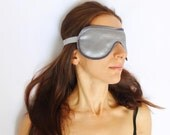 Sleeping Mask Grey Satin Sleep Mask Titanium Grey Lace Mask Eye Mask Luxury Loungewear Honeymoon Gift Travel Accessory Bridesmaid Sleepwear