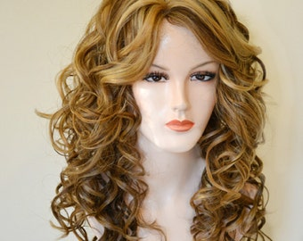 Big body curl with tricolor frosted blonde