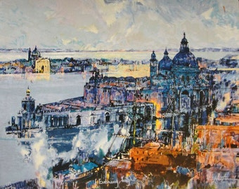 """Herve Fenouil """"Evening Light"""" - S/N Serigraph - Retail 500.00 - COA - Buy/Sell/Trade - See Live at GallArt"""