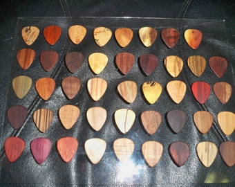 Handcrafted Wooden Guitar Pick's by Robinson Wood Pick's