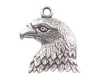 5 Silver Eagle Charm 22x19mm by TIJC SP0140