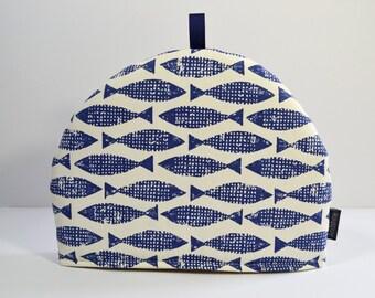 Scion Scandinavian feel Fish Tea Cosy - Samaki Ink Blue