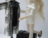"""1:12 scale Women's """" black & white """" outfit set for Heidi dolls by Jing's Creations---ooak"""