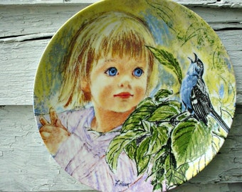 Frances Hook Legacy series  #3 ~ Discovery  ~  Knowles china ~ Collectable plate ~ Little girl plate